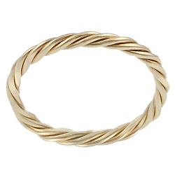 Goldfill/Alloy Twisted Ring