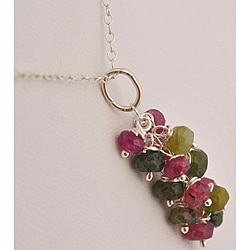 Sterling Silver Tourmaline Cascade Necklace