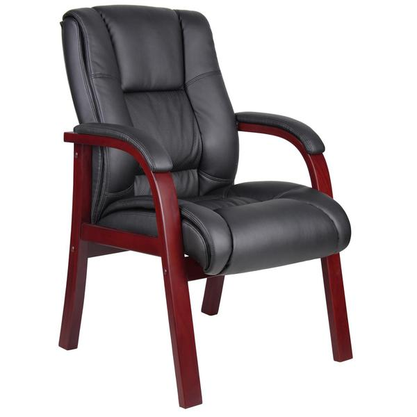Boss Mid-back Black Guest Chairs