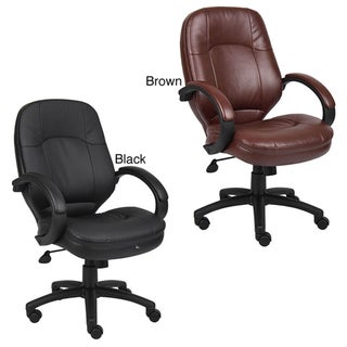 Boss LeatherPlus Bonded Leather Executive Chair