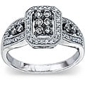 Sterling Silver 1/2ct TDW Natural Grey and White Diamond Ring (H-I, I2)