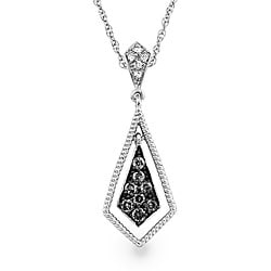 SilverMist Silver 1/4ct TDW Natural Grey and White Diamond Necklace (H-I, I2)