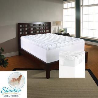 Slumber Solutions 3.5-inch Memory Foam and Fiber Mattress Topper