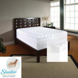 Slumber Solutions 4.5-inch Twin/ Full-size Memory Foam and Fiber Mattress Topper