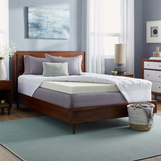 Slumber Solutions 5.5-inch Memory Foam and Fiber Mattress Topper