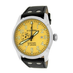 Le Chateau Men's Dynamo Automatic Watch with Yellow Dial