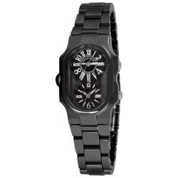 Philip Stein Women's 1CB-MB-CB 'Signature' Black Ceramic Swiss Quartz Watch