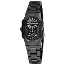 Philip Stein Women's 'Signature' Black Ceramic Swiss Quartz Watch