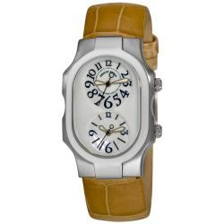 Philip Stein Women's 'Signature' Sand Strap Dual Time Watch