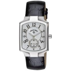 Philip Stein Women's Signature Classic Black Leather Strap Watch