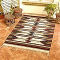 Mexican Handcrafted 'Vino' Wool Rug (6' x 9'6)