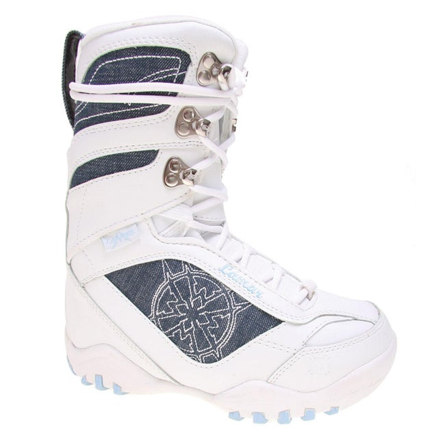 Lamar Justice Girl's White Snowboard Boots