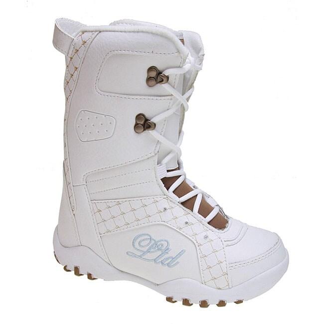 LTD Stratus Girl's White Snowboard Boots