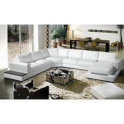 Nelson House Leather Sectional Set
