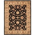 Handmade Heritage Kerman Black/ Gold Wool Rug (9'6 x 13'6)