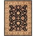 Safavieh Handmade Heritage Kerman Black/ Gold Wool Rug (9'6 x 13'6)