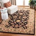 Safavieh Handmade Heritage Kerman Black/ Gold Wool Rug (2' x 3')