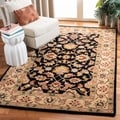 Handmade Heritage Kerman Black/ Gold Wool Rug (2' x 3')