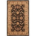 Handmade Heritage Kerman Black/ Gold Wool Rug (6' x 9')