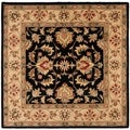 Handmade Heritage Kerman Black/ Gold Wool Rug (8' Square)