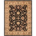 Handmade Heritage Kerman Black/ Gold Wool Rug (8'3 x 11')