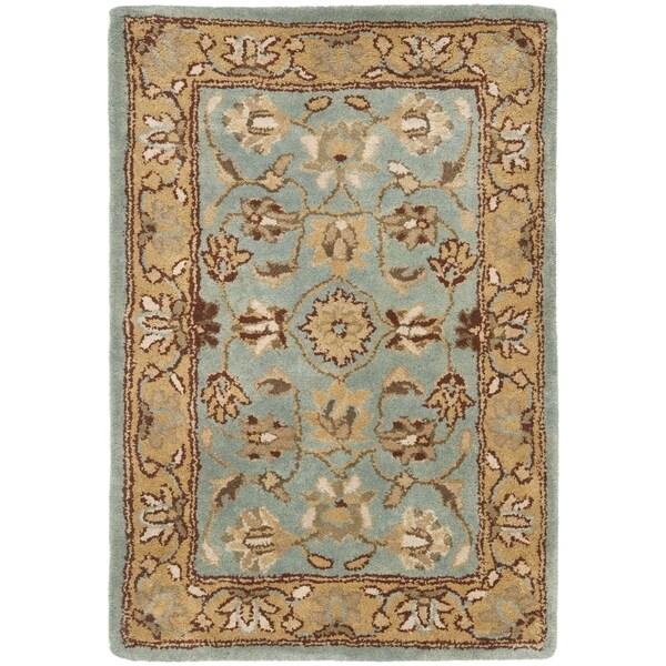 Safavieh Handmade Heritage Mahal Blue/ Gold Wool Rug (3' x 5')