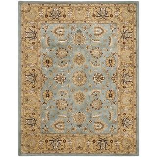 Handmade Heritage Mahal Blue/ Gold Wool Rug (6' x 9')