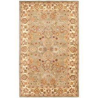 Safavieh Handmade Heritage Oushak Light Green/Beige Wool Rug (12' x 15')