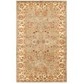Handmade Heritage Oushak Light Green/Beige Wool Rug (12' x 15')
