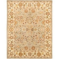 Handmade Heritage Oushak Light Green/Beige Wool Rug (7'6 x 9'6)