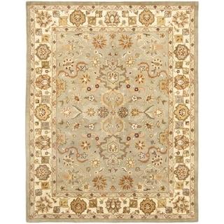 Handmade Heritage Oushak Light Green/Beige Wool Rug (7'6 x 9'6)