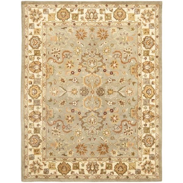 Safavieh Handmade Heritage Oushak Light Green/Beige Wool Rug (7'6 x 9'6)