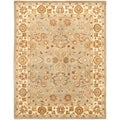 Handmade Heritage Oushak Light Green/Beige Wool Rug (7&#39;6 x 9&#39;6)
