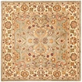 Handmade Heritage Oushak Light Green/Beige Wool Rug (8' Square)