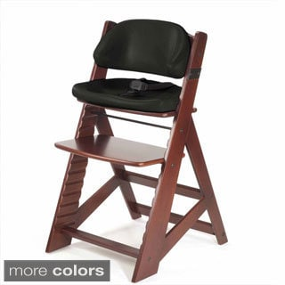 Height Right Mahogany High Chair with Comfort Cushions
