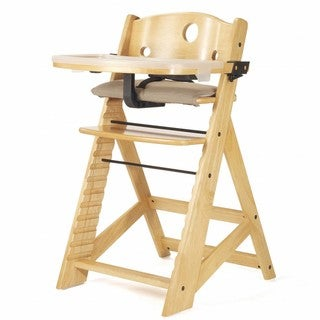 Height Right Natural High Chair with Tray