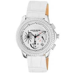 Akribos XXIV Women's Diamond Chronograph Strap Watch