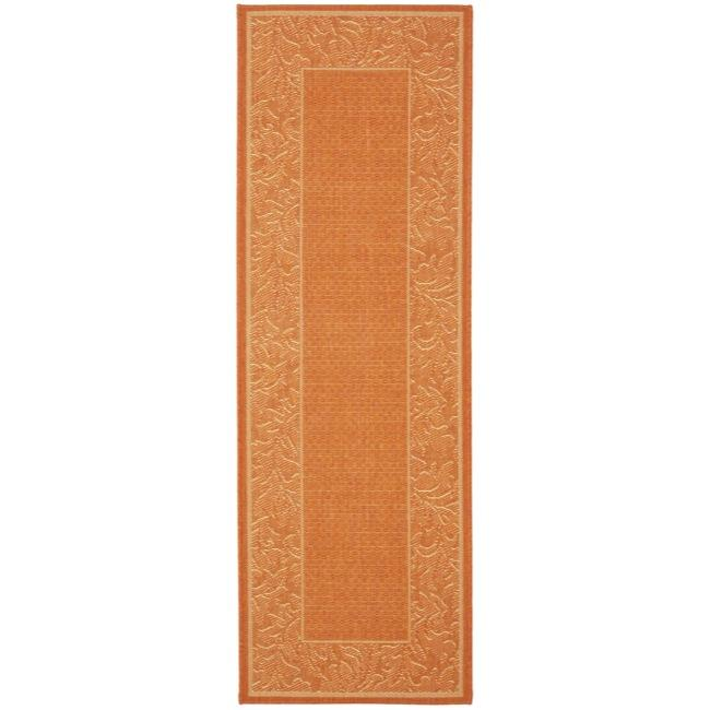 Safavieh Indoor/ Outdoor Paradise Terracotta/ Natural Runner (2'4 x 6'7)