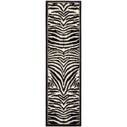 Lyndhurst Collection Zebra Black/ White Runner (2'3 x 8')