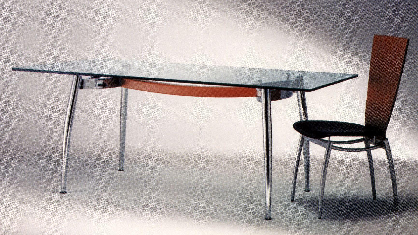 Italian Chrome Modern Dining Table