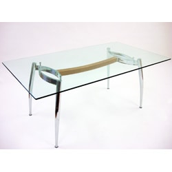 Italian Chrome Modern Dining Table