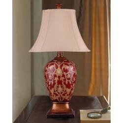 Handcrafted Makenzie Red/ Gold Table Lamp
