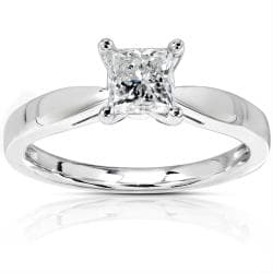 14k Gold 1/2ct TDW Diamond Solitaire Engagement Ring