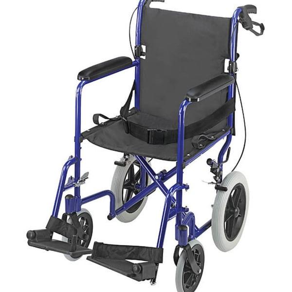 Mabis 22 Inch Lightweight Royal Blue Aluminum Transport Chair