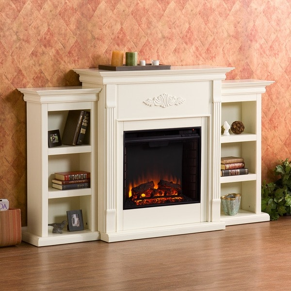 Home Electric Fireplace Storage Tv Stand Shelves Organize Living Christmas Gift Ebay