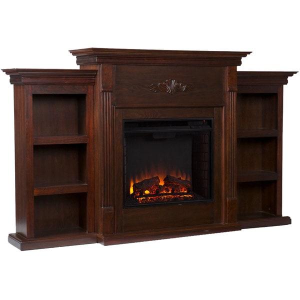 Upton Home Dublin Espresso Electric Fireplace
