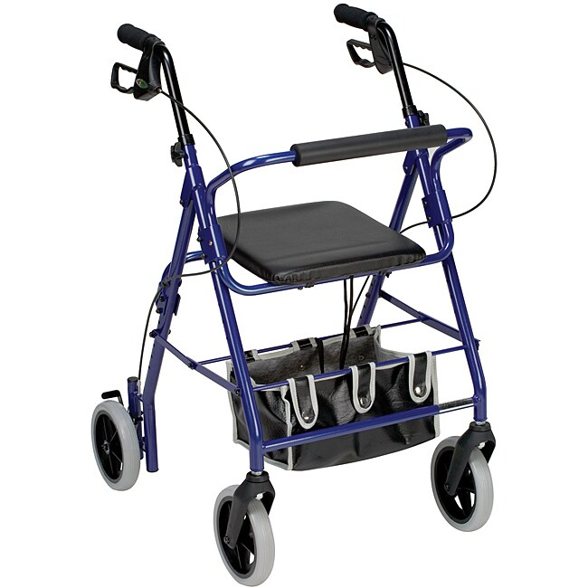 Mabis Royal Blue Adjustable Seat Height Aluminum Rollator