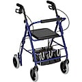 Mabis Royal Blue Adjustable Seat Height Aluminum Rollator