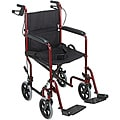 Mabis Burgundy Folding Steel Transport Chair