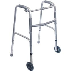 Mabis Healthcare Single Release Folding Walker with 5